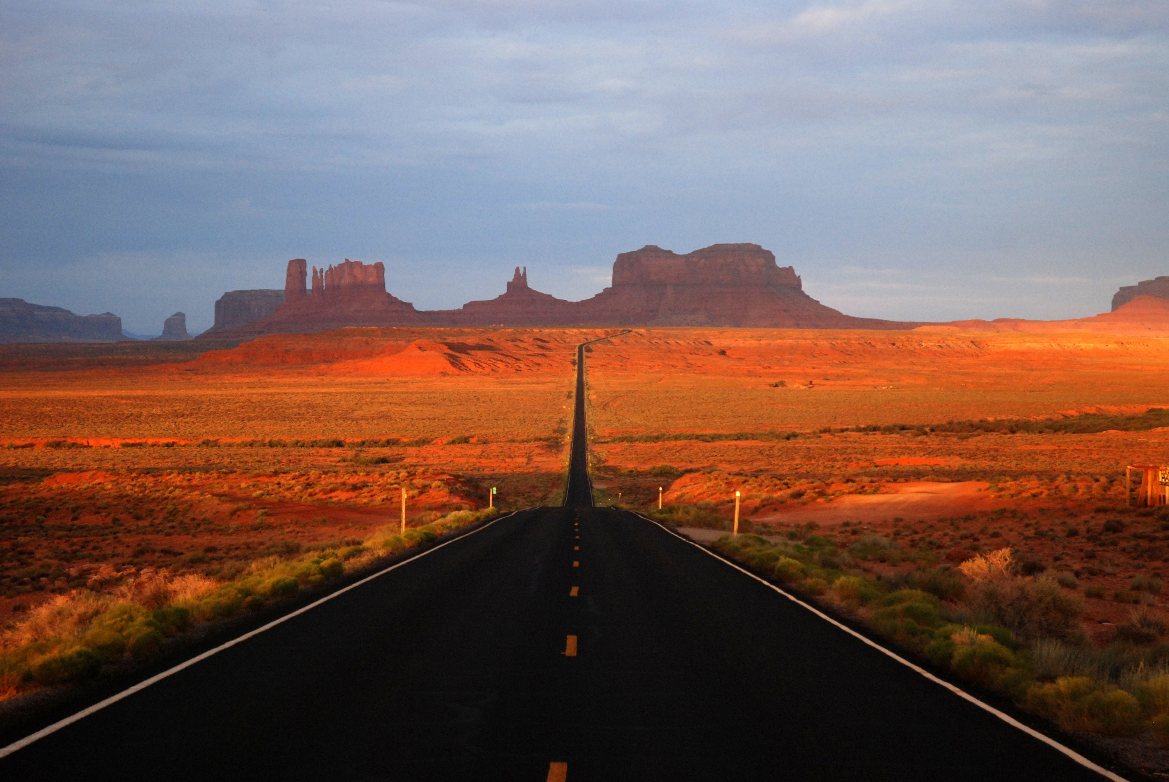 Monument valley view from north monument valley