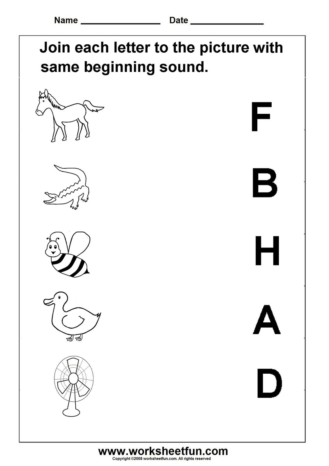 Initial Sound 4 In A Row Game Kindergarten Phonics