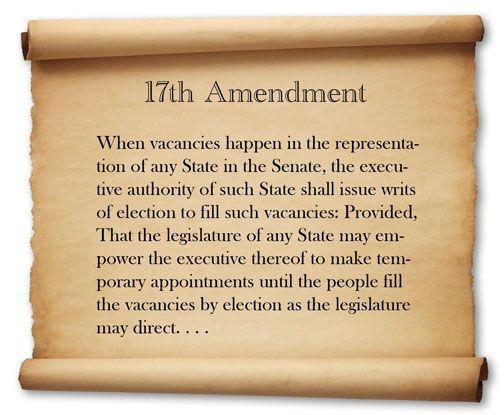 17th Amendment | Constitutional amendments, Constitution, 14 amendment