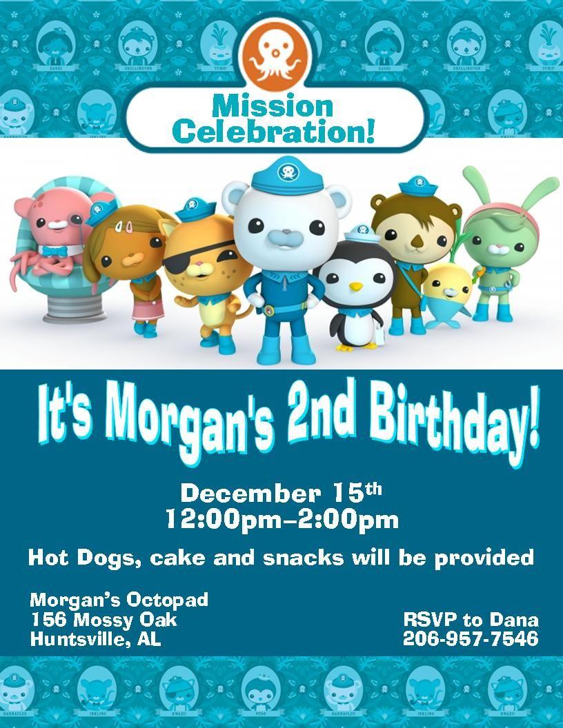 Custom Octonauts Party Invitations | Invitations | Pinterest ...