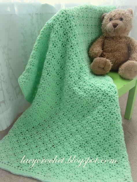 Lacy Crochet  Crochet Green Baby Blanket 04b354531e