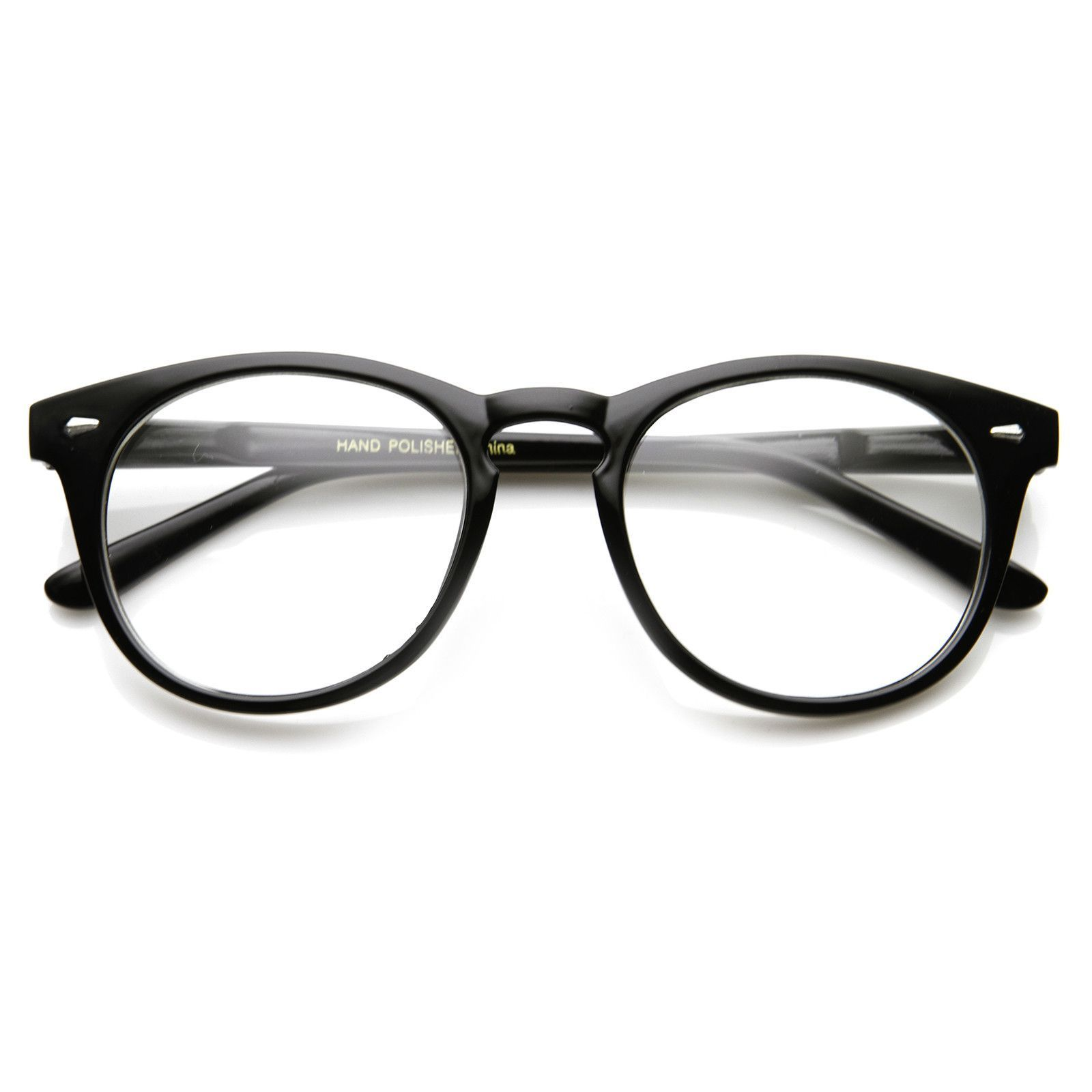 Eyeglasses cost - Classic Vintage Era Round P3 Clear Lens Optical Glasses 8712