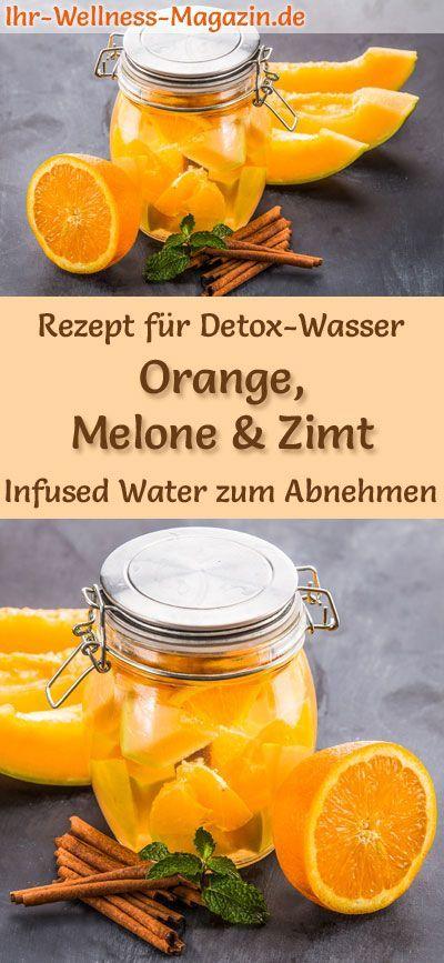 Orangen-Melonen-Zimt-Wasser - Rezept für Infused Water - Detox-Wasser