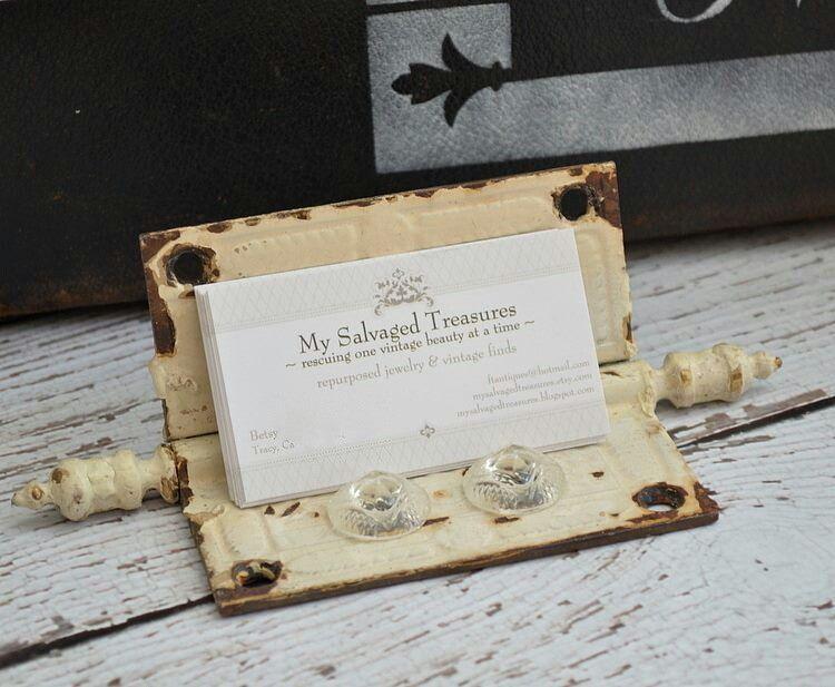 Old Door Hinge Business Card Holder Business Card Displays Business Card Holders Craft Show Displays