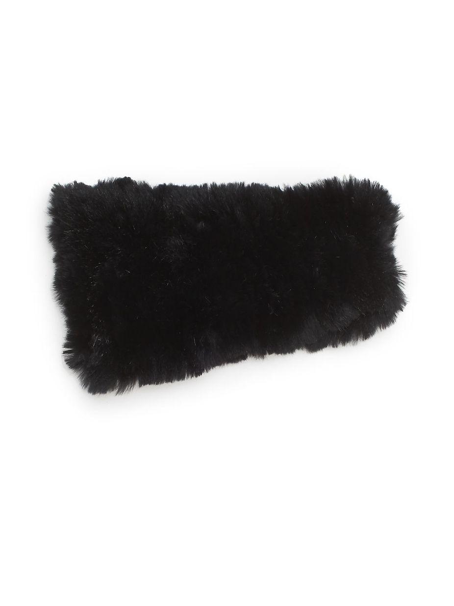 a11933ed545 Saks Fifth Avenue Knitted Rabbit Fur Headband