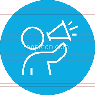 Person Speaking Into Megaphone Outline Icon Icon Outline Person