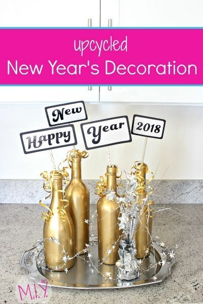 DIY New Year's Eve Upcycled Table Decor