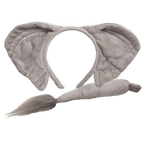 Adult Giant Ears /& Tail Set Animal Fancy Dress Donkey Dog Rabbit Mouse