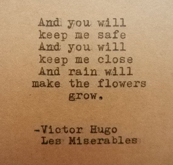 Victor Hugo Les Miserables Quote Hand Typed On Typewriter On