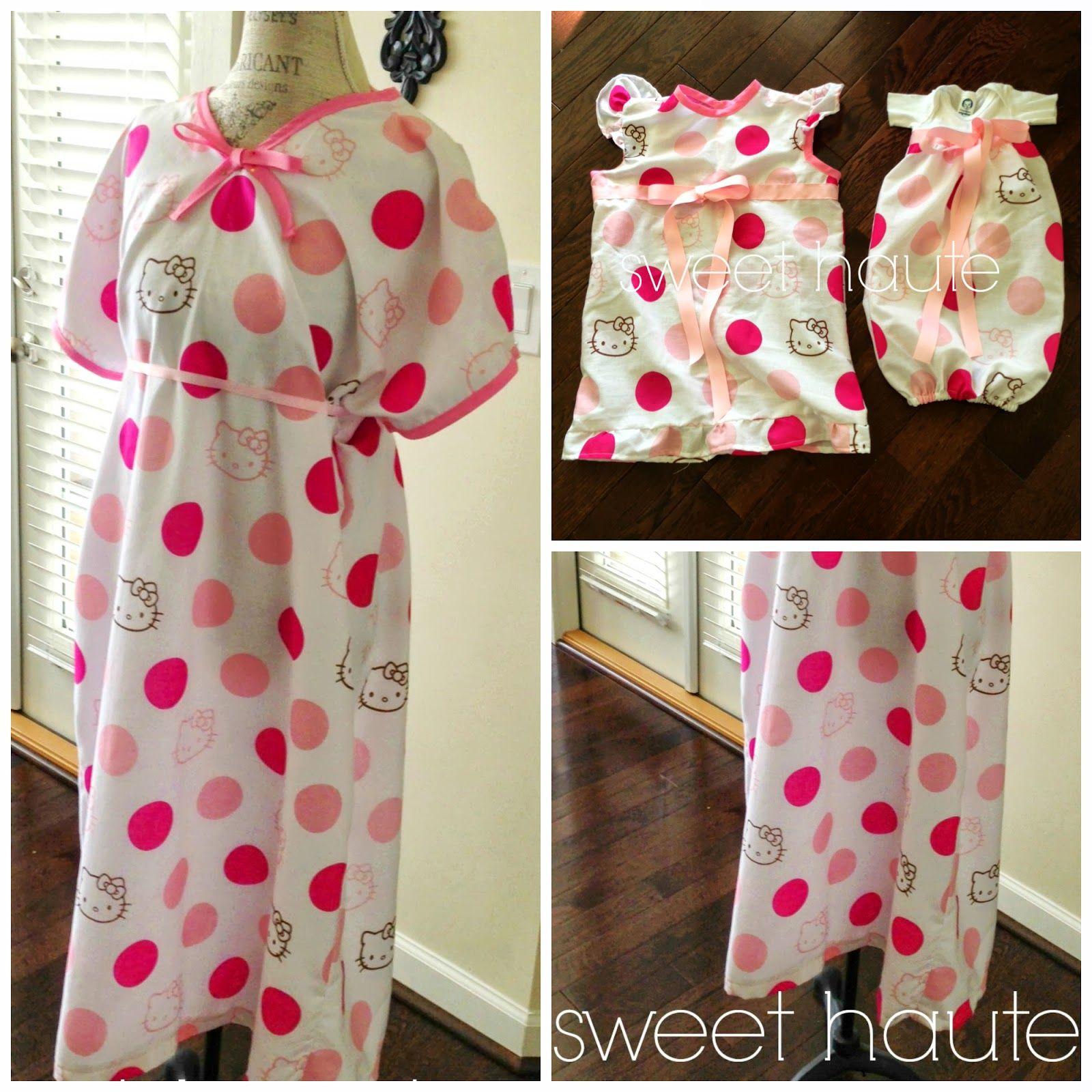SWEET HAUTE*: DIY Maternity Hospital Gown- FREE Pattern | Pregnancy ...