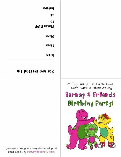 Barney, BJ and Baby Bop http://partyinvitationshq.com/free-printable ...