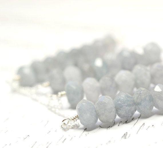 Tanzanite Necklace Smoky Purple Gray Gemstone Jewelry by waterwaif, $60.00