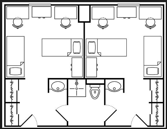 Hassayampa Asu Floor Plan University Dorms Student Dormitory Dorm Layout