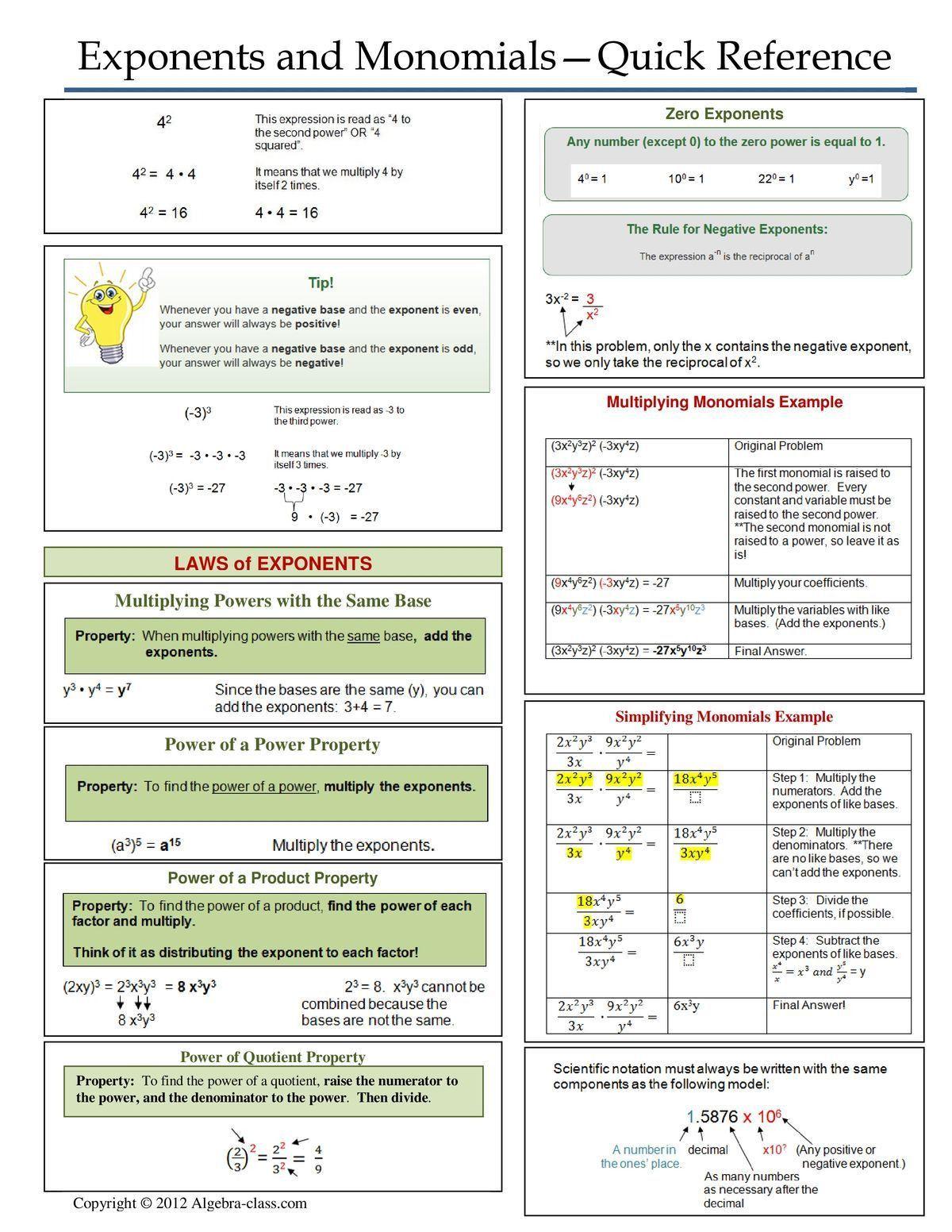 Direct Variation Worksheet Answer Key