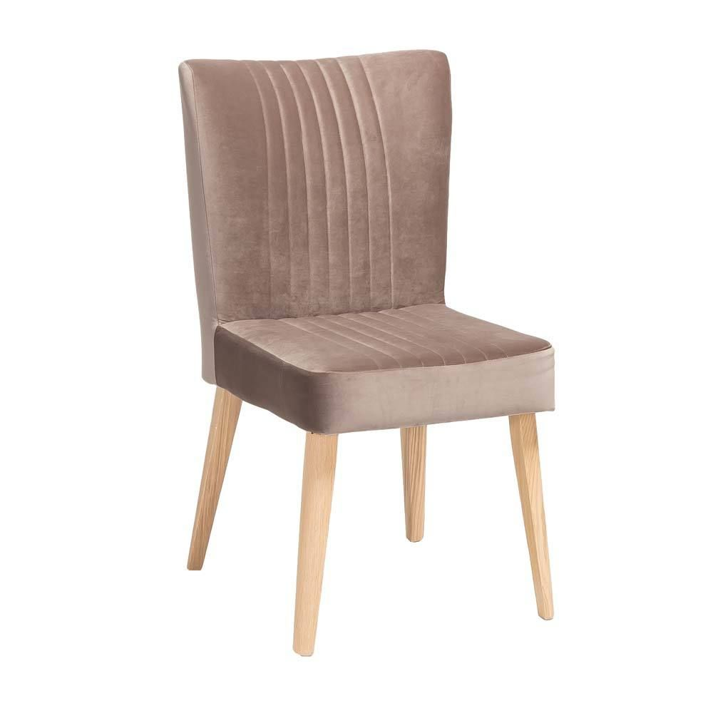 Küche und esszimmer designs polsterstuhl in taupe stoff retro design jetzt bestellen unter