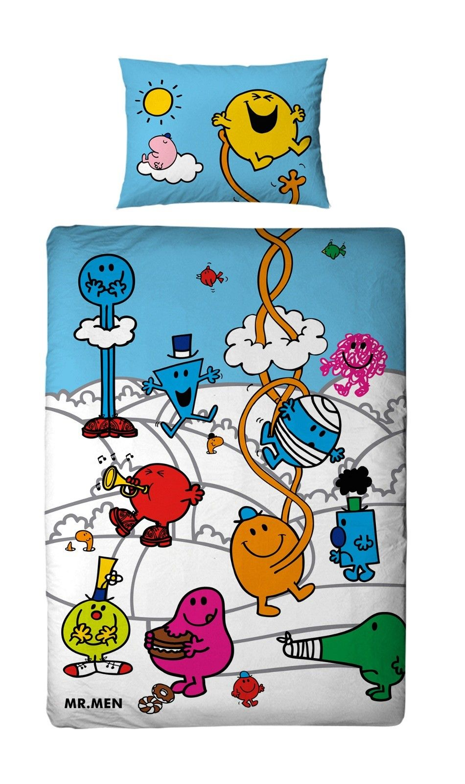 parure de lit enfant r versible mr men little miss monsieur madame parures de lit. Black Bedroom Furniture Sets. Home Design Ideas