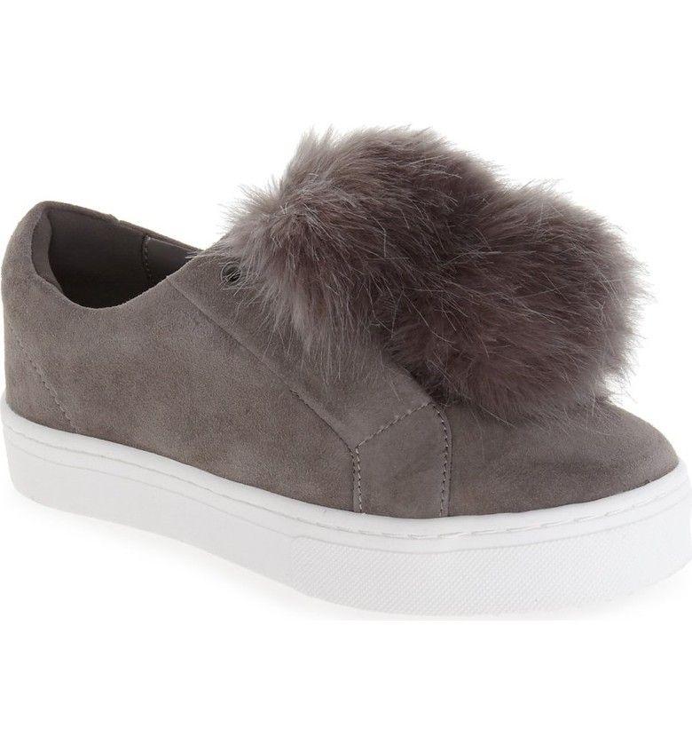 78d084105977f2 Main Image - Sam Edelman  Leya  Faux Fur Laceless Sneaker (Women ...