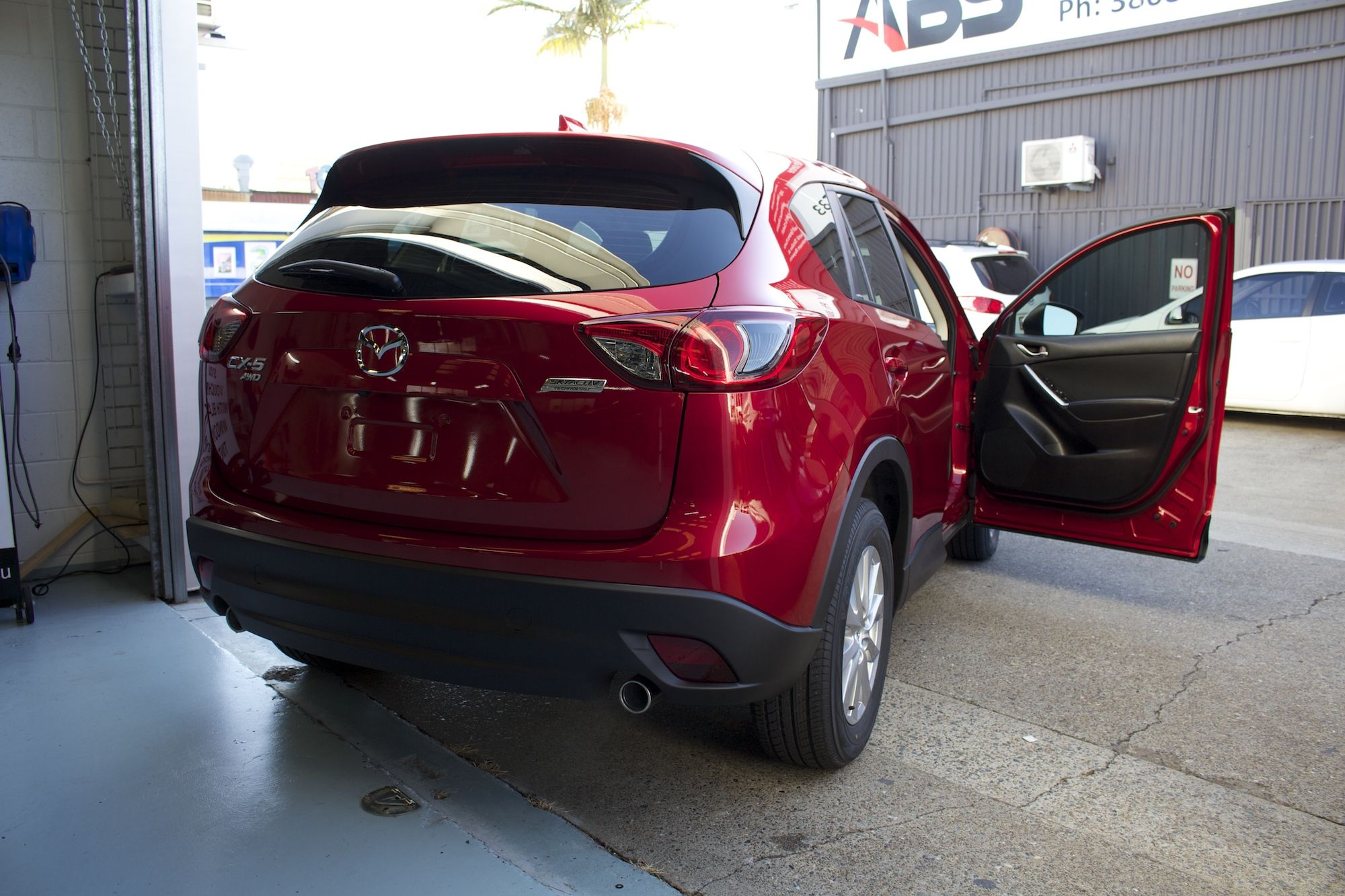 Red Window Tint >> Dark Car Window Tint Installed On A Red Mazda For Top
