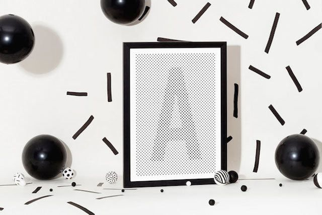 The Alphabet Shaped by Black Dots – Fubiz™