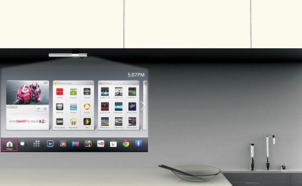 Smart Kitchen Tv Lg Smart Tv Projector In Kitchen