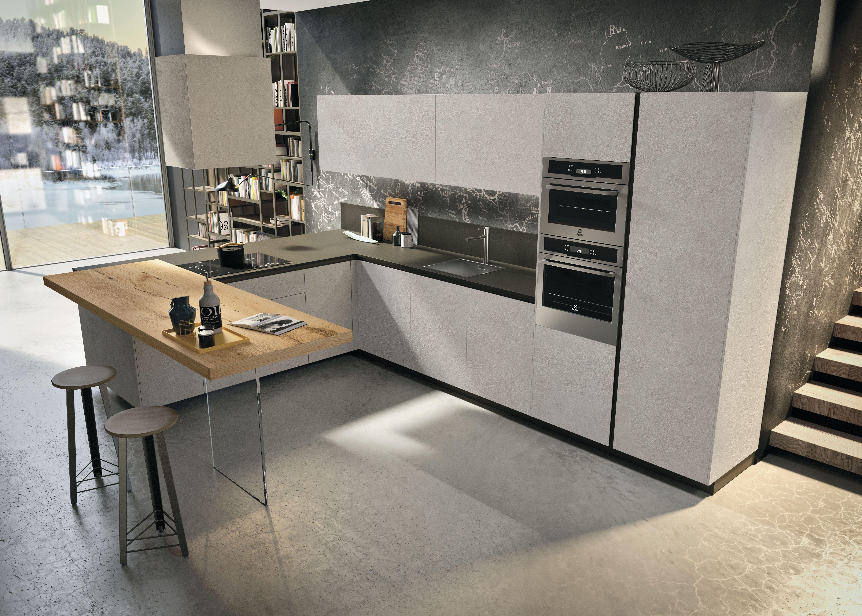 Classic kitchen Way with ash resin melamine doors. #cucine ...