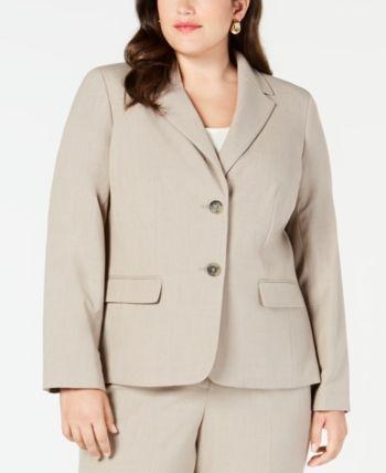 dd6c7a8d7de1 Nine West Plus Size Crepe Two-Button Jacket in 2019   Products ...