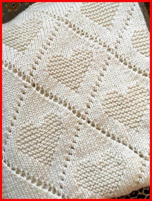 #Baby #Blanket #Diamond #Knitting #Love #Pattern