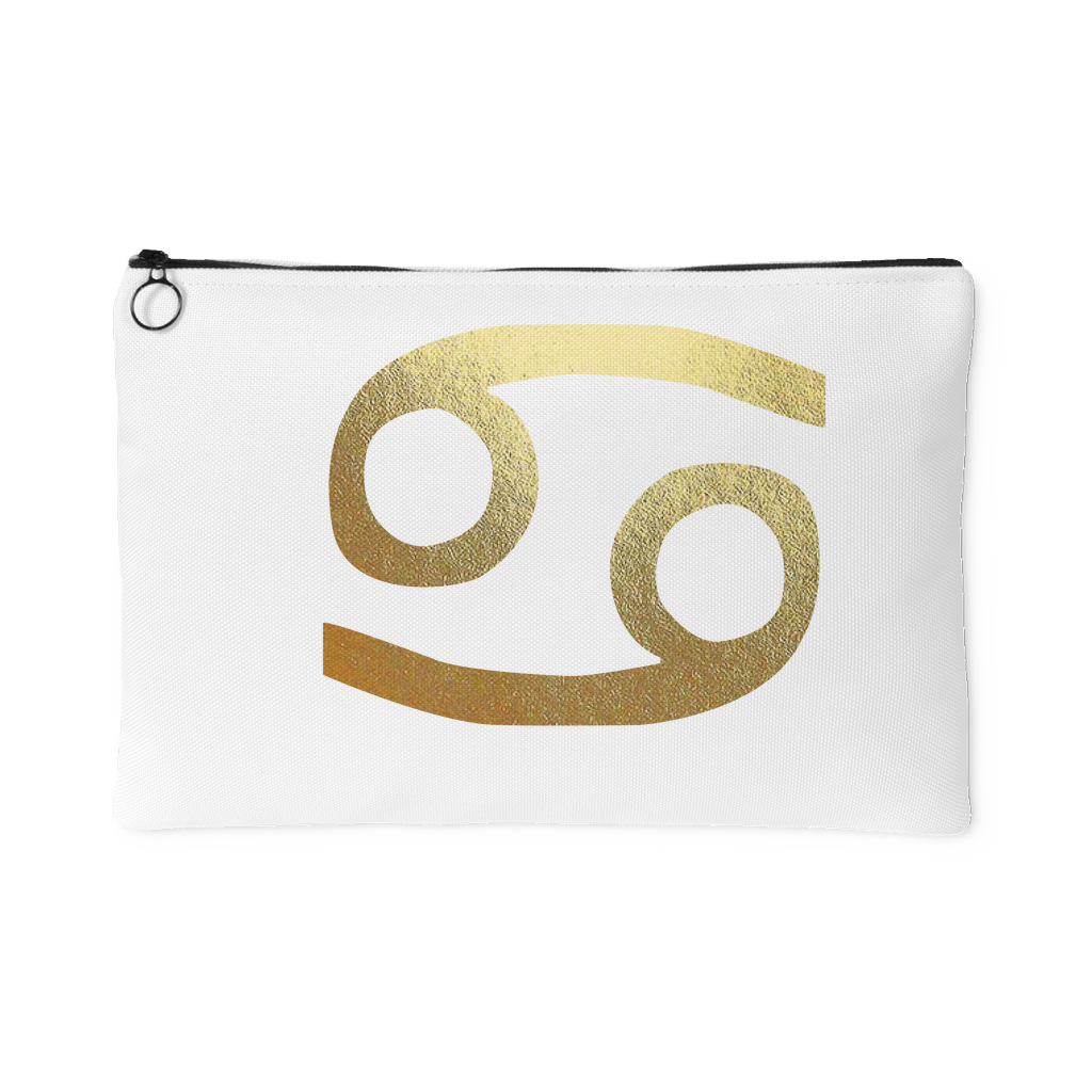 Cancer Gold Sign Accessory Pouch