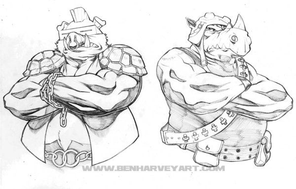 Bebop And Rocksteady By Benharveyart On Deviantart Bebop And