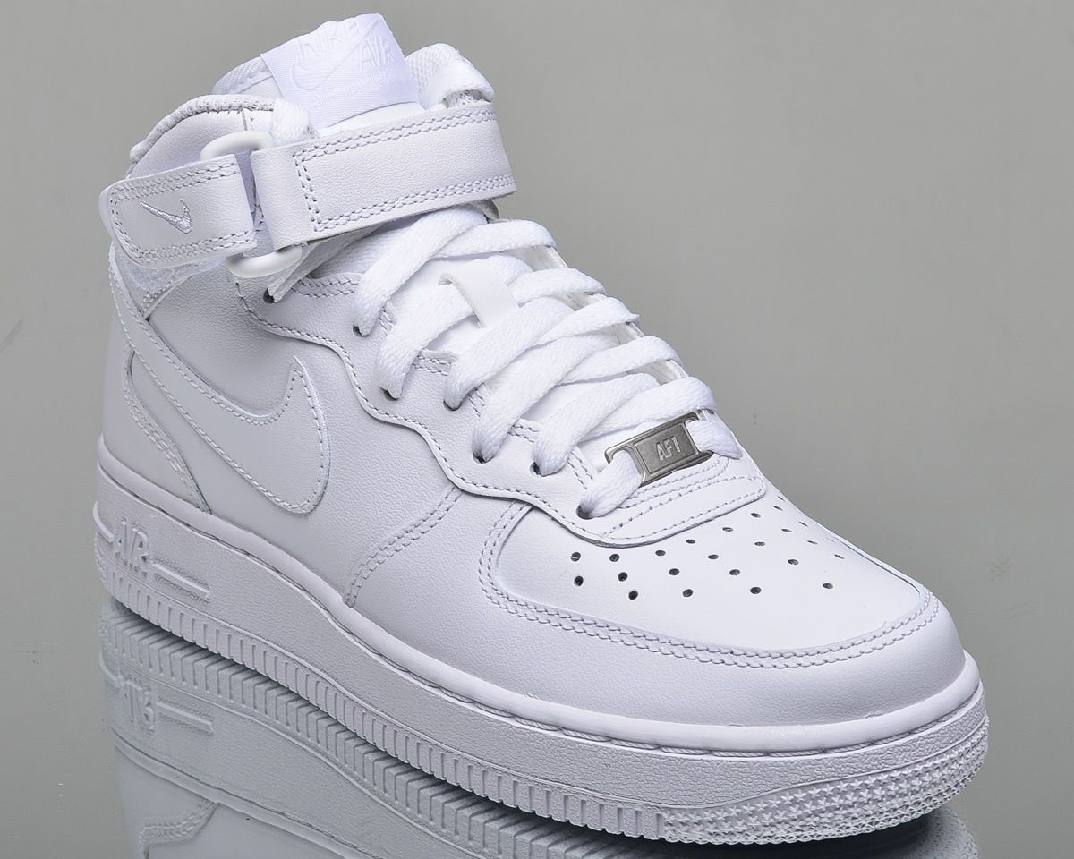 quality design c8382 cf807 Nike Wmns Air Force 1 Mid 07 Leather Women Lifestyle Shoes White 366731-100