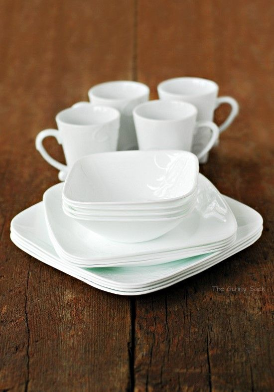 Corelle White Square Dish Set & Corelle White Square Dish Set | DIY ideas and remodels - Making a ...