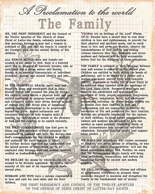 photo about The Family a Proclamation to the World Free Printable identify The Household Proclamation in the direction of the Earth, Free of charge Printable with
