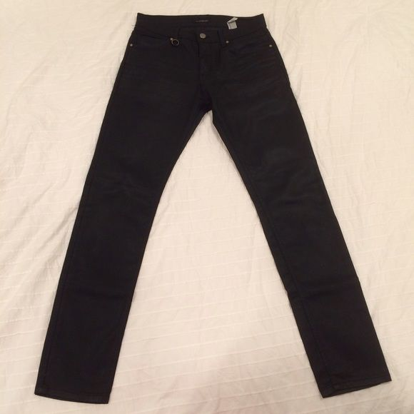 236a27cf Zara Black Jeans Men's black wax coated jeans from Zara. Excellent like new  condition.