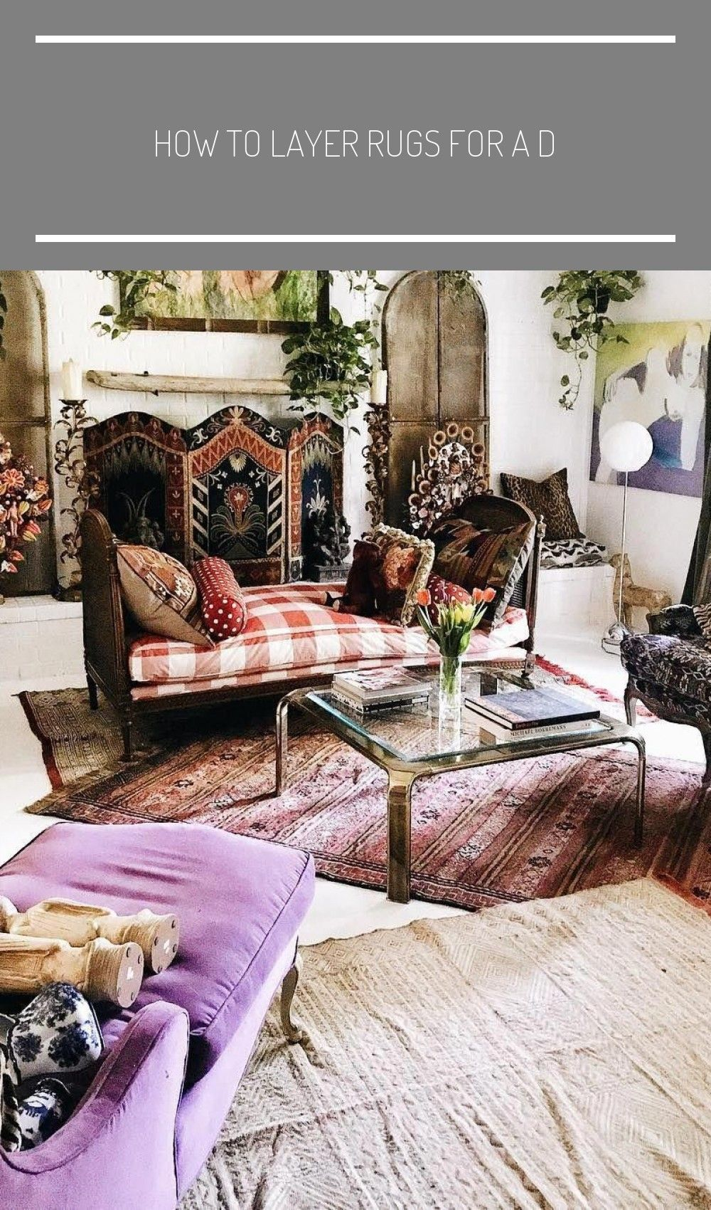 How To Layer Rugs For A Design Trend That Adds Richness To Any Living Room Playroomideasforolderkids Layer In 2020 Layered Rugs Rugs On Carpet Bohemian Living Rooms