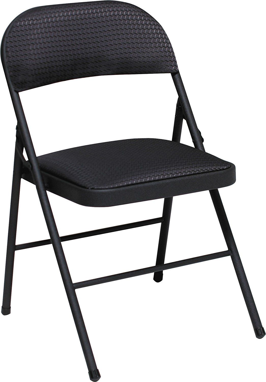 Cosco Fabric 4Pack Folding Chair, Black