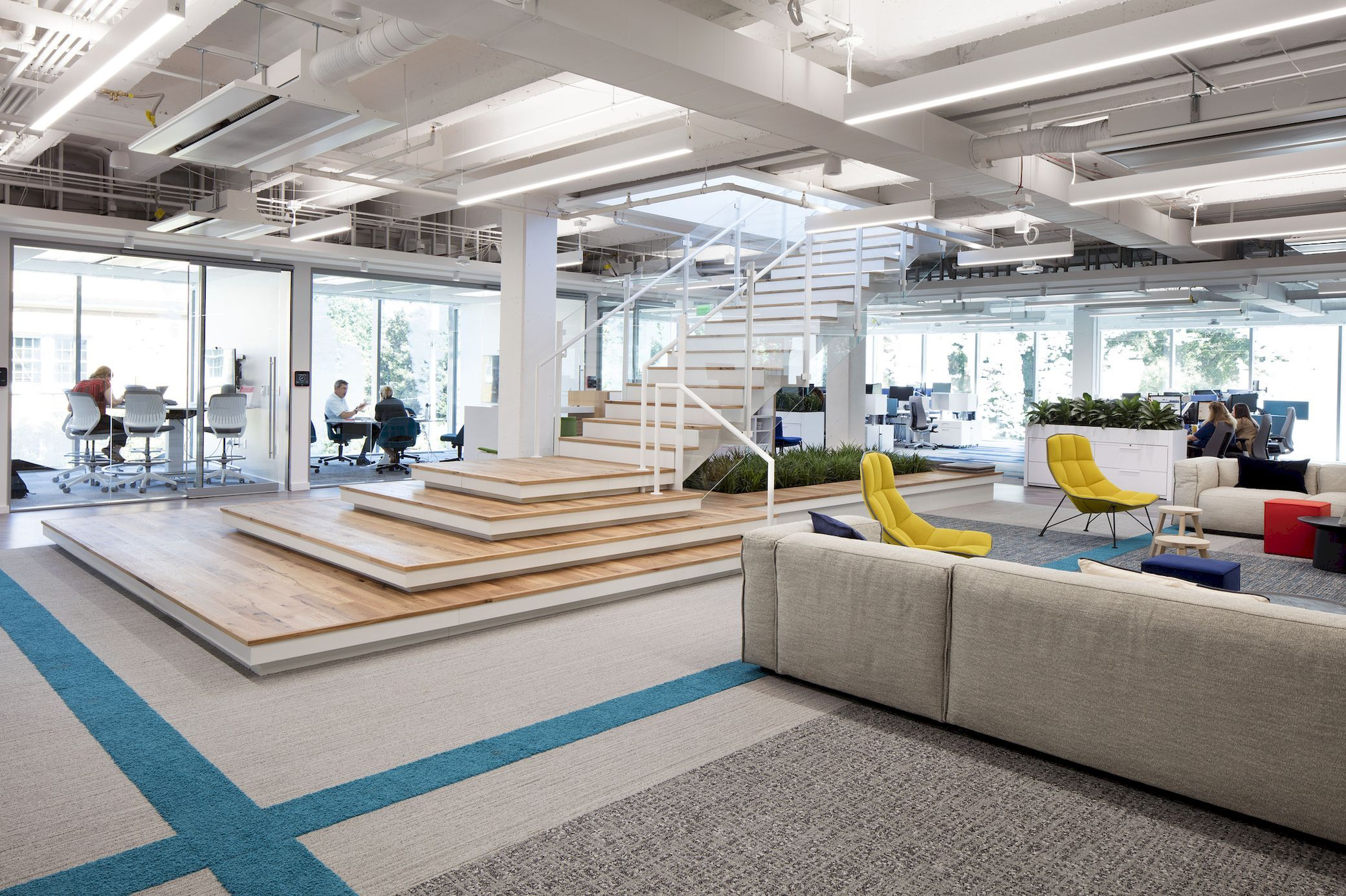 Interface Headquarters Perkins Will Arch2o Com Office Design Interior Design Firms Living Showroom