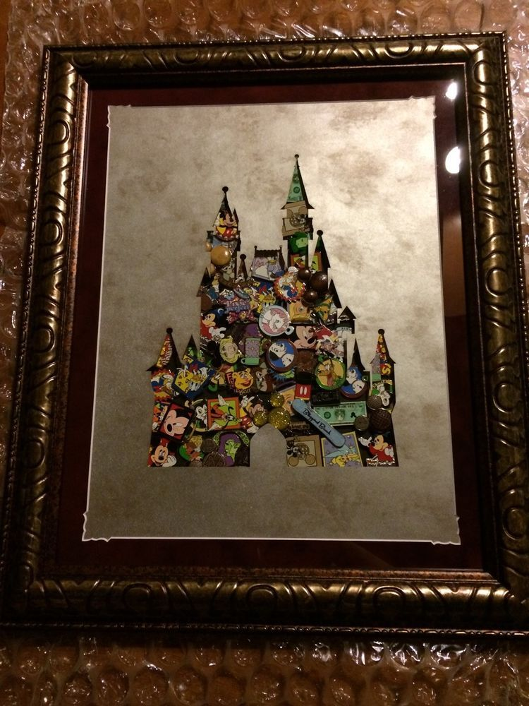 Disney World Cinderella Castle Deluxe Framed Collage Pin Set ...