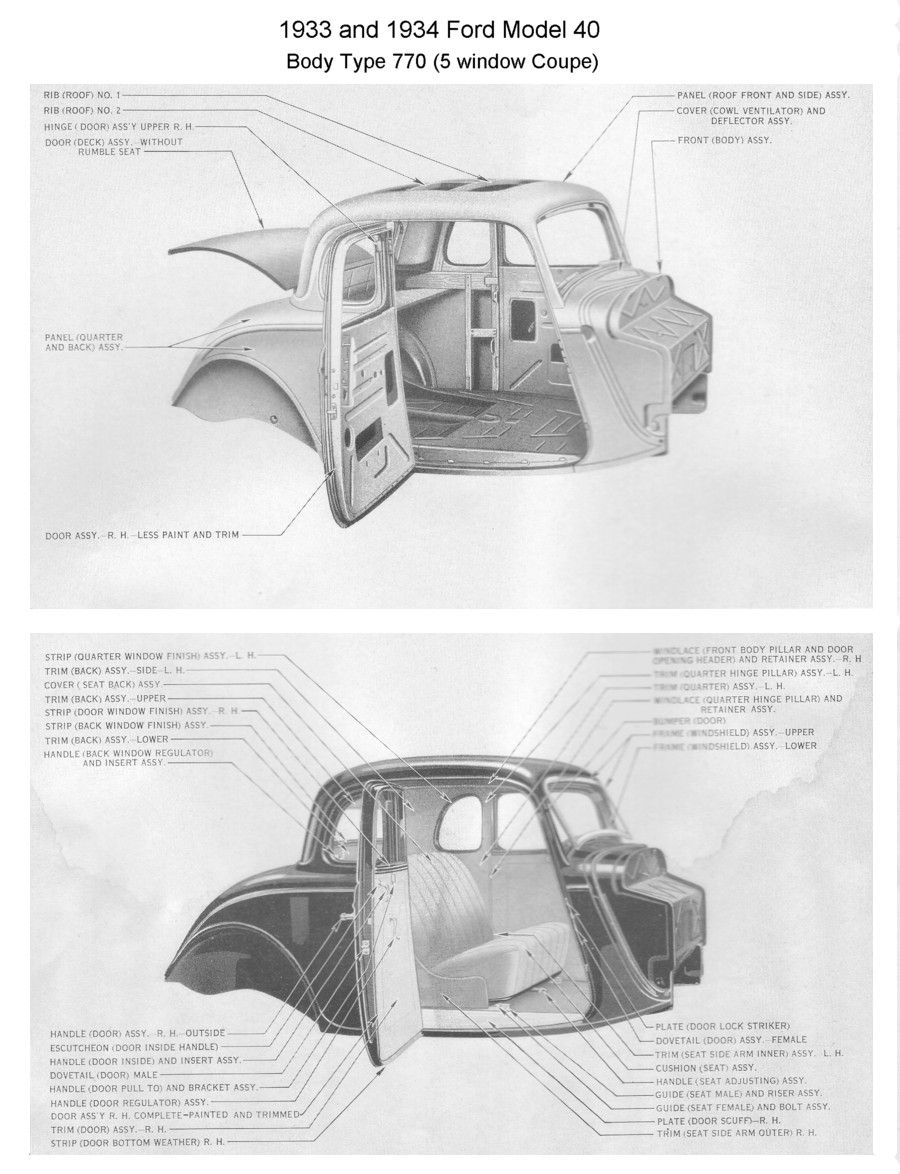 Pin By Pam On Men And Their Toys 34 Ford Coupe Vintage Hot Rod Blueprints