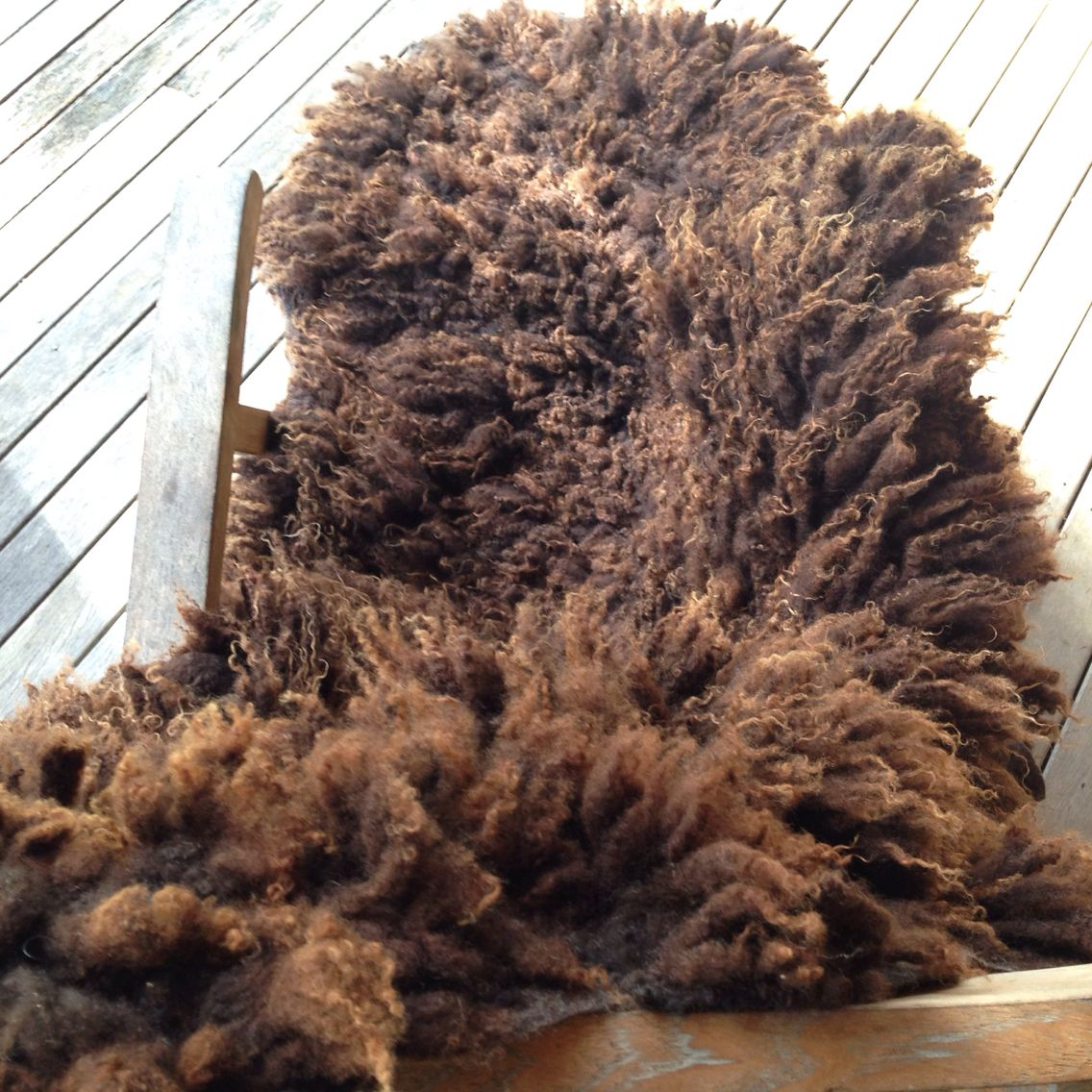 Gotland Wool Rug Throw Made Of Raw