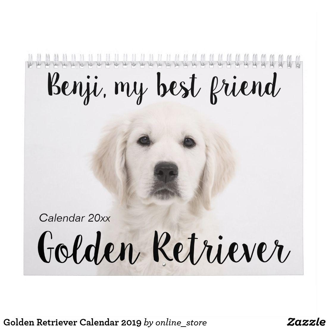 Golden Retriever Calendar 2020 Zazzle Com Dog Mom Calendar
