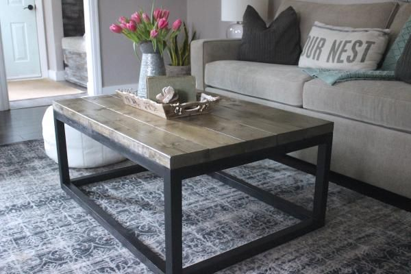 Industrial coffee table do it yourself home projects from ana white living room tutorials Do it yourself coffee table