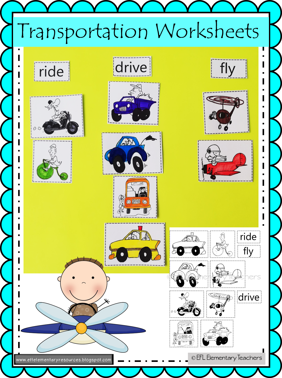 Transportation Theme For Elementary Esl In