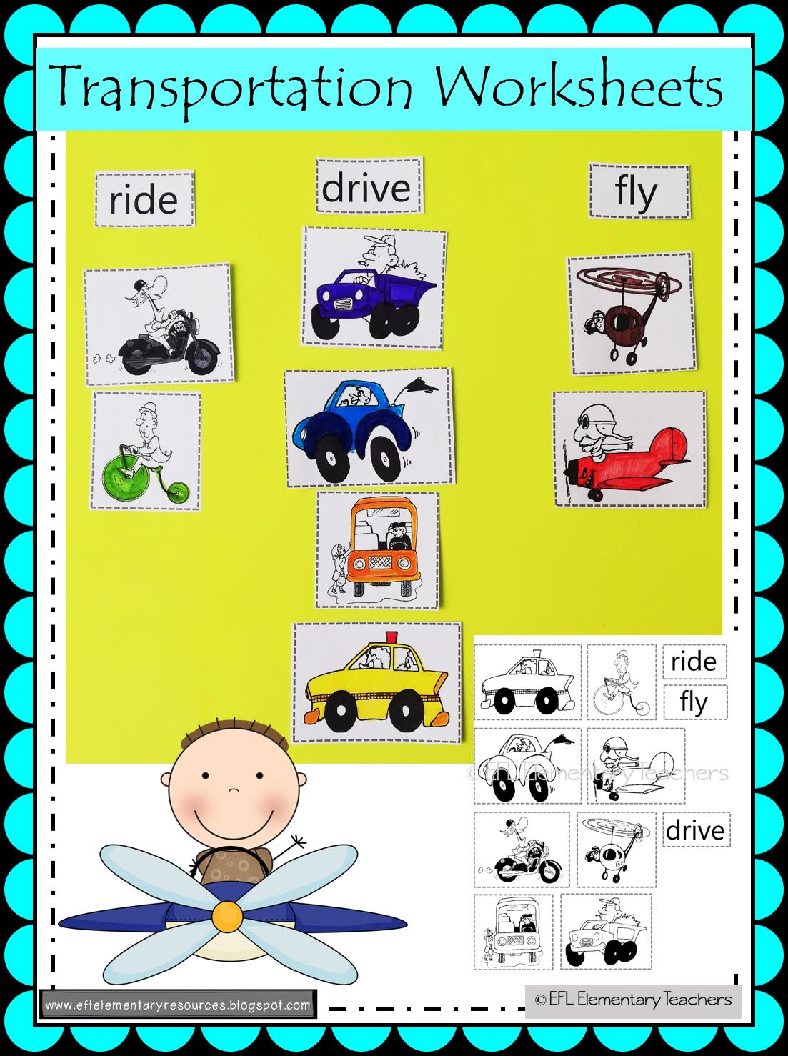 Transportation Theme For Elementary Esl In