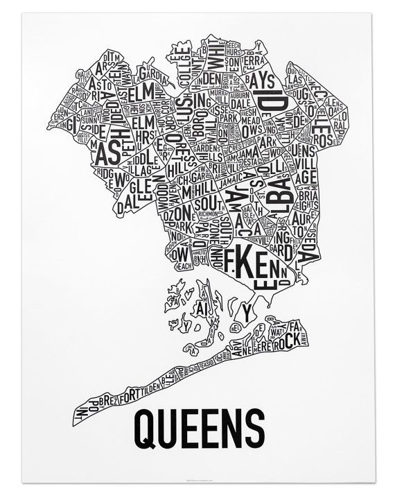 Queens Neighborhood Map by Ork Posters - 18