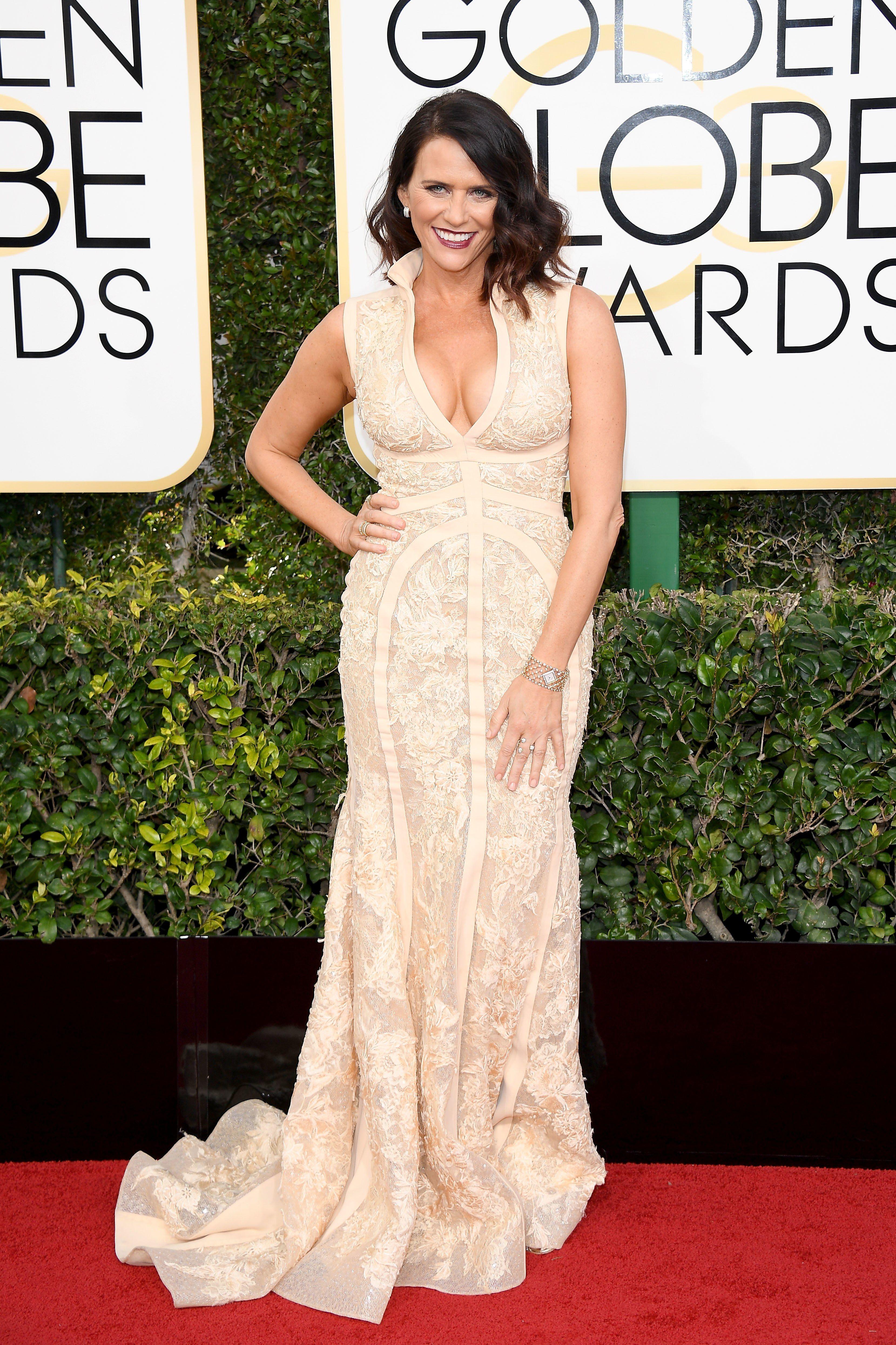 Amy Landecker at the 2017 Golden Globe Awards