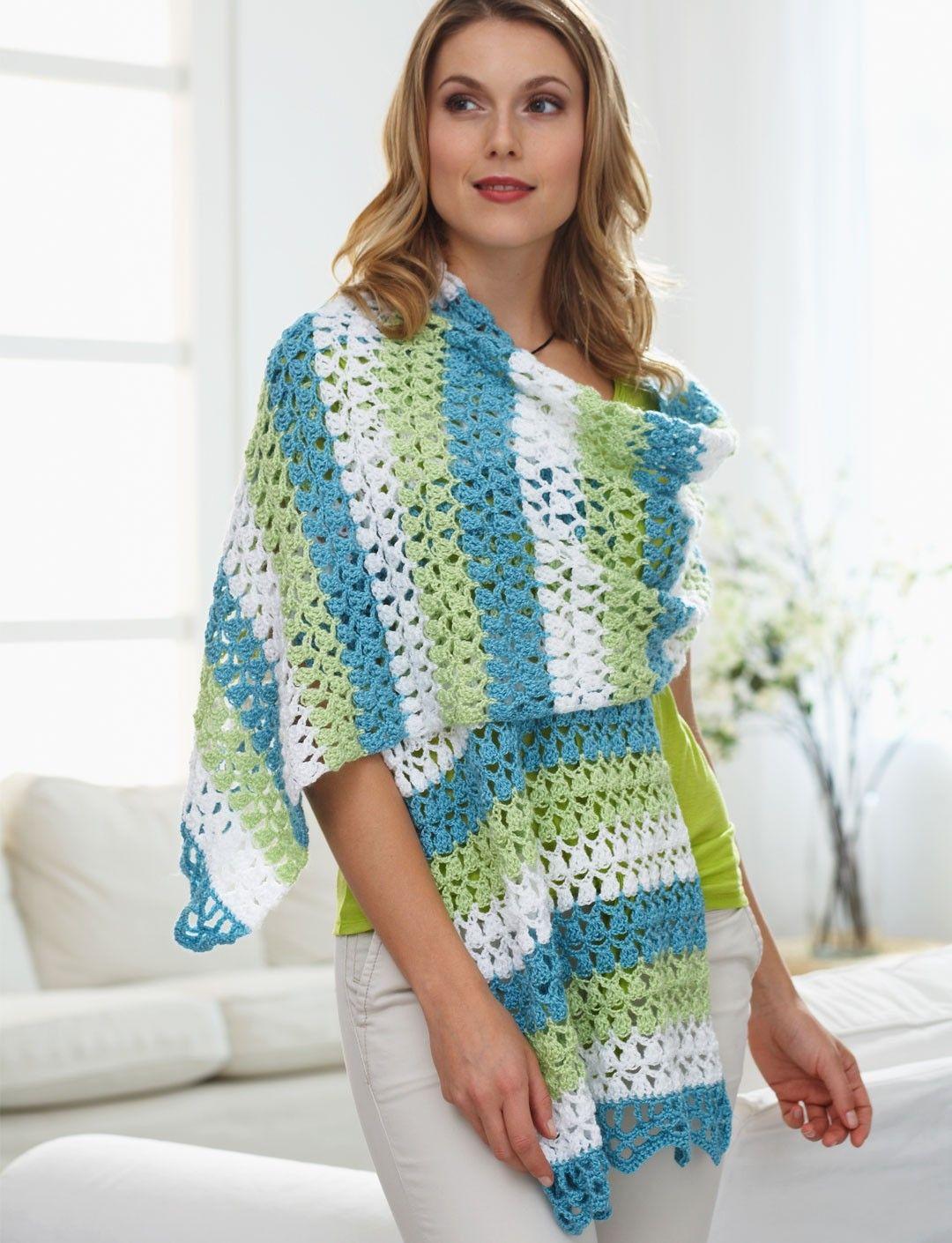 Yarnspirations.com - Caron Triad Shawl - Patterns ...