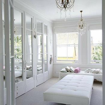 Mirrored Doors, French, Closet, Emily Wheeler