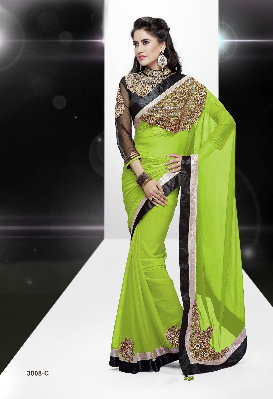 Saree blouse design for chiffon saree atsendshoppinglpfvptesgqfcolorgreen