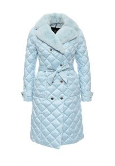 751a83be347bd Пуховик, Odri, цвет: голубой. Артикул: OD001EWLWT03. Женская одежда /  Верхняя одежда / Пуховики и зимние куртки