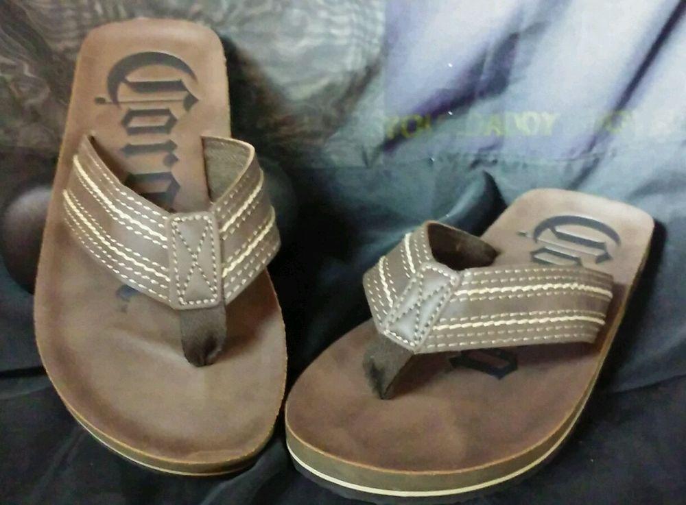 ad518cf2022 Corona Mens Beer Drink Brown Sandals Flip Flops Size Medium 9 10 Beach   Corona  FlipFlops